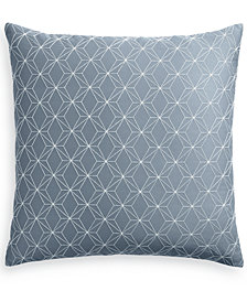 "Hotel Collection Cascade 400-Thread Count Blue 20"" Square Decorative Pillow, Created for Macy's"