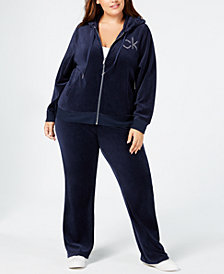 Calvin Klein Plus Size Studded Velour Jacket