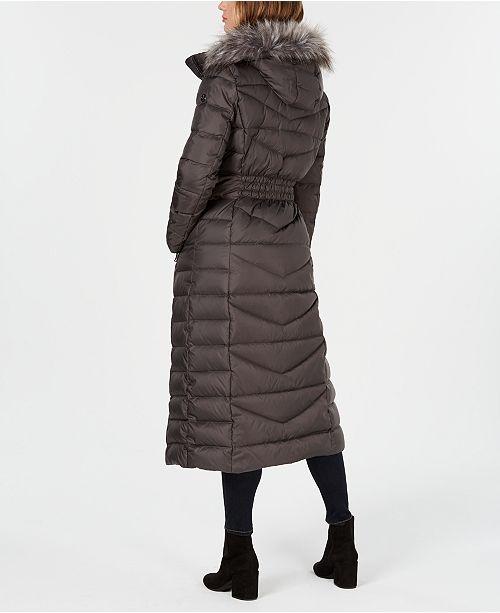 a94ac7c20ee37 Calvin Klein Faux-Fur-Trim Maxi Puffer Coat   Reviews - Coats ...