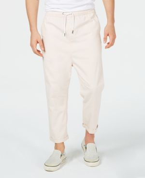 Image of A.i. Men's Loose-Fit Cropped Pull-on Pants