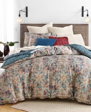 Lucky Brand Alma Cotton Reversible 3Pc King Duvet Cover Set Created for Macys Bedding