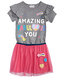 Peppa Pig Little Girls 2-Pc. Graphic-Print T-Shirt & Skirt Set