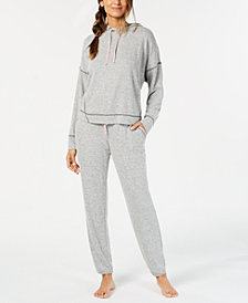 Alfani Brushed Soft Knit Pajama Separates, Created for Macy's