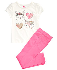 Epic Threads Little Girls T-Shirt & Sateen Jeans, Created for Macy's