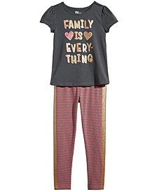 Epic Threads Little Girls T-Shirt & Striped Leggings, Created for Macy's