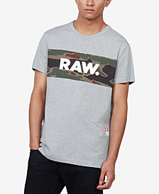 G-Star RAW Men's Tairi Camo-Colorblocked T-Shirt, Created for Macy's