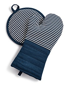 Martha Stewart Collection Pot Holder & Oven Mitt Set, Created for Macy's