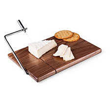 Picnic Time Meridian Black Walnut Cutting Board & Cheese Slicer