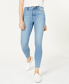 Joe's Jeans The Charlie Embellished Ankle Skinny Jeans