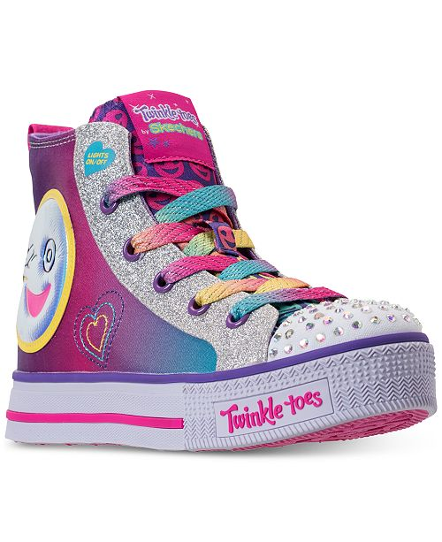 5570bf613b3d Skechers Little Girls' Twinkle Toes: Twinkle Lite - Happy Pals High Top  Light Up ...