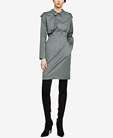 BCBGMAXAZRIA Long-Sleeve Trench Dress