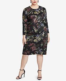 RACHEL Rachel Roy Trendy Plus Size Floral Printed Sheath Dress