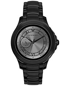 Emporio Armani Men's Black Stainless Steel Bracelet Touchscreen Smart Watch 46mm