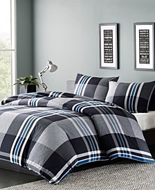 Nathan 3-Pc. Full/Queen Duvet Cover Mini Set