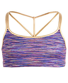 Ideology Big Girls Plus Space-Dyed Sports Bra, Created for Macy's