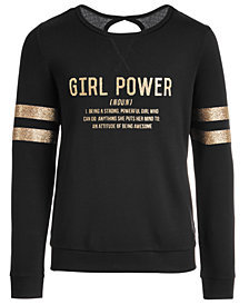 Ideology Big Girls Girl Power-Print Sweatshirt, Created for Macy's