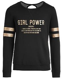 Ideology Big Girls Girl Power-Print Sweatshirt, Created for Macy's