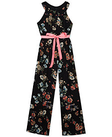 Rare Editions Big Girls Halter-Neck Jumpsuit