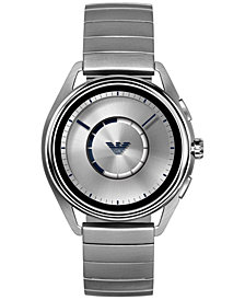 Emporio Armani Men's Stainless Steel Bracelet Touchscreen Smart Watch 43mm