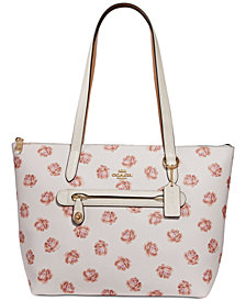 COACH Rose-Print Taylor Tote