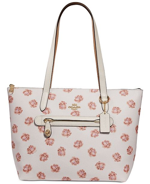 129057445 COACH Rose-Print Taylor Tote & Reviews - Handbags & Accessories - Macy's