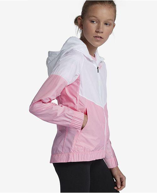 f9d7e32073d0a Nike Big Girls Sportswear Windrunner Hooded Jacket & Reviews - Coats ...