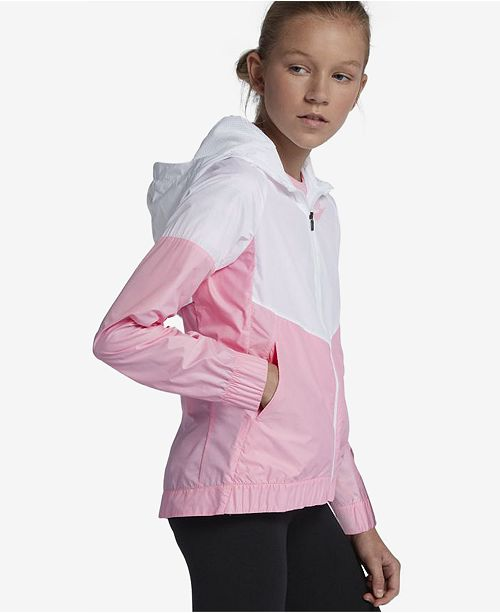 122290bd4 Nike Big Girls Sportswear Windrunner Hooded Jacket & Reviews - Coats ...