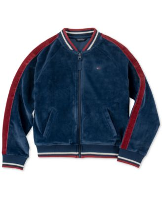 Tommy Hilfiger Girls Velvet Puffer Jacket