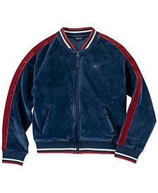 Tommy Hilfiger Big Girls Velvet Bomber Jacket