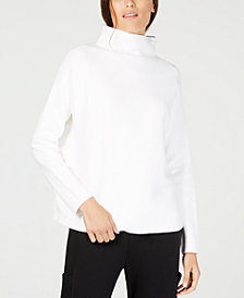 Eileen Fisher Mock-Neck Long-Sleeve Sweater, Regular & Petite