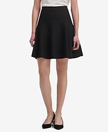 DKNY Knit A-Line Skirt