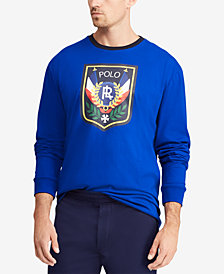Polo Ralph Lauren Men's Big & Tall Graphic Cotton Long-Sleeve T-Shirt