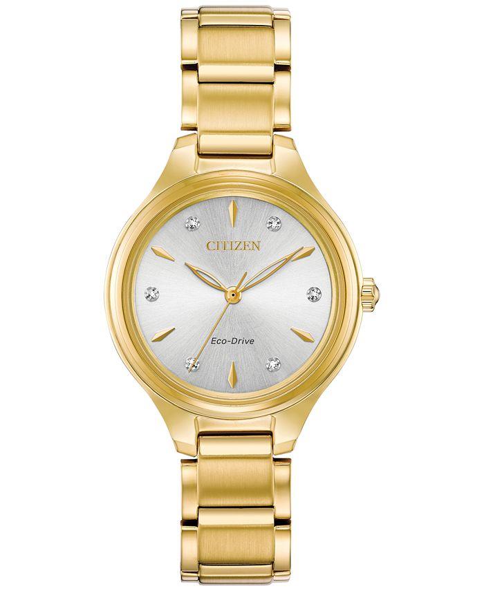 Citizen - Women's Corso Diamond-Accent Two-Tone Stainless Steel Bracelet Watch 29mm