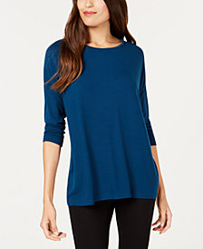 Alfani 3/4-Sleeve Top, Created for Macy's