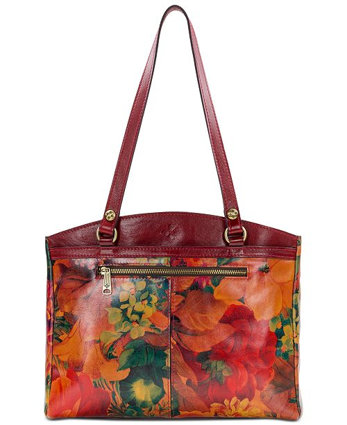 d5da7dc211 Patricia Nash Poppy Smooth Leather Shoulder Bag   Reviews - Handbags ...