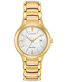 Eco-Drive Women's Chandler Gold-Tone Stainless Steel Bracelet Watch 30mm