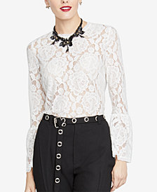 RACHEL Rachel Roy Vivian Lace Top, Created for Macy's