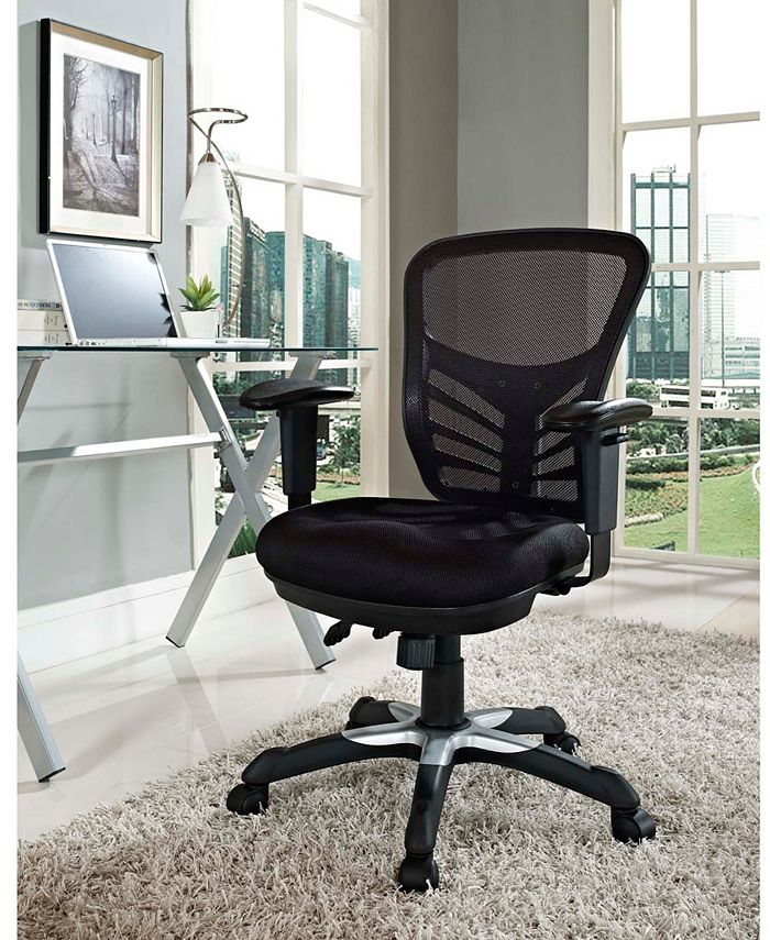 Modway - Articulate Mesh Office Chair in Red