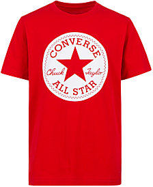 Converse Big Boys Chuck Taylor Logo Graphic Cotton T-Shirt