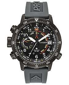 Citizen Eco-Drive Men's Promaster Altichron Gray Polyurethane Strap Watch 46mm
