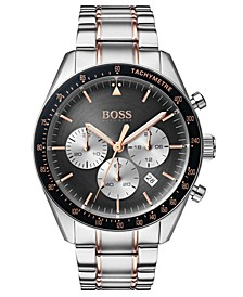 Hugo Boss Men's Chronograph Trophy Two-Tone Stainless Steel Bracelet Watch 44mm