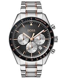 BOSS Hugo Boss Men's Chronograph Trophy Two-Tone Stainless Steel Bracelet Watch 44mm