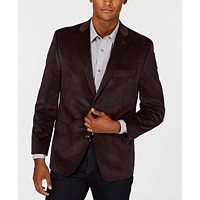 Deals on Michael Kors Mens Classic Regular Fit Velvet Sport Coat