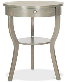 Kendra Round Pedestal End Table, Quick Ship
