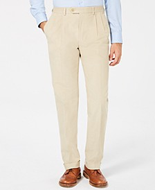 Men's Classic/Regular Fit Corduroy Double Reverse Pleated Dress Pants