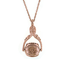 2028 Rose Gold-Tone 3-Sided Spinner Locket Necklace 30""