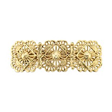Gold-Tone Filigree Hair Barrette