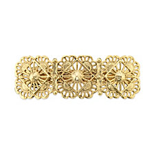 2028 Gold-Tone Filigree Hair Barrette
