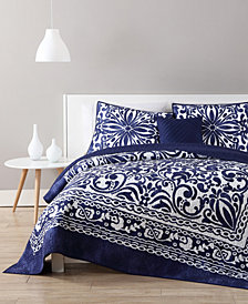 VCNY Home Eleanor Reversible 3-Pc. Medallion Twin XL Quilt Set
