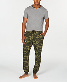 Bar III Men's Camo Pajama Set, Created for Macy's